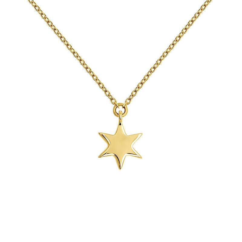 Gold star necklace, J03863-02, hi-res