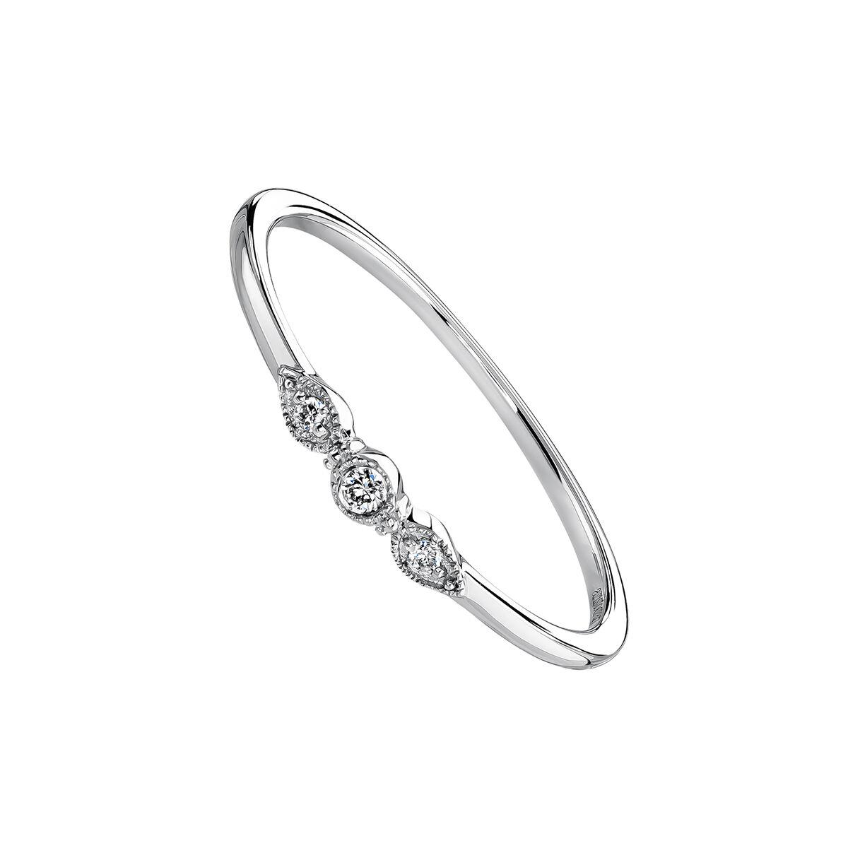 bague or blanc diamant entretien