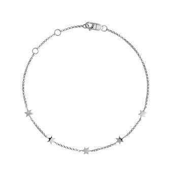 Bracelet étoiles or blanc, J04012-01, hi-res