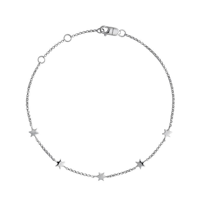 White gold stars bracelet, J04012-01, hi-res