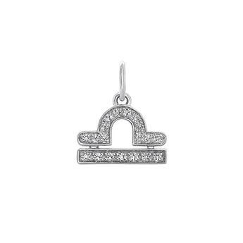 Libra silver pendant, J03605-01-WT, hi-res