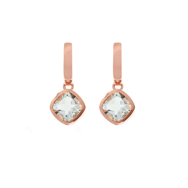 Pendientes aro piedra plata recubierta oro rosa, J01771-03-GQ, hi-res