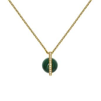 Gold Malachite Pendant, J03517-02-WT-MA, hi-res