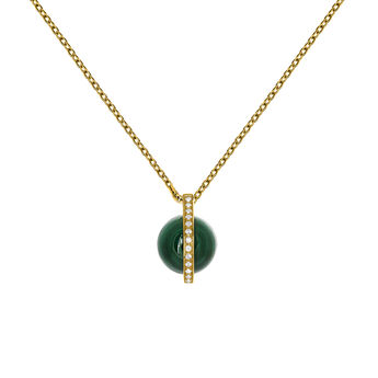 Colgante malaquita oro, J03517-02-WT-MA, hi-res