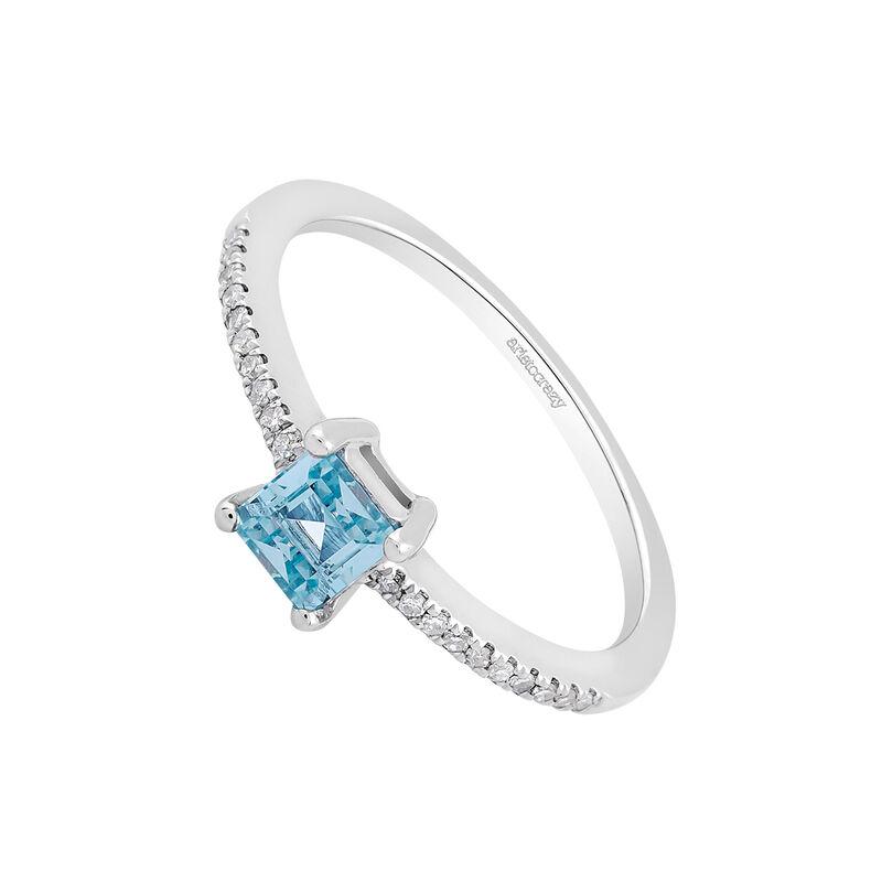 Anillo diamantes topacio azul, J03111-01-SB, hi-res