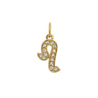 Leo gold pendant, J03599-02-WT, hi-res