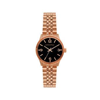 St. Barth watch bracelet black face., W30A-PKPKBL-AXBL, hi-res