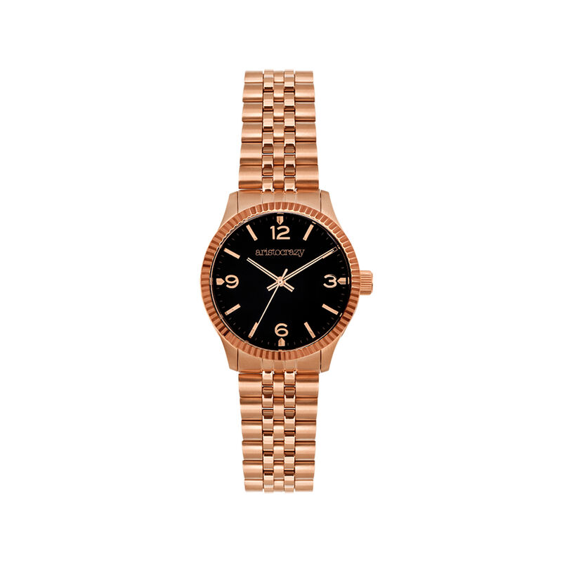 St. Barth watch bracelet black face., W30A-PKPKBL-AXBL, hi-res