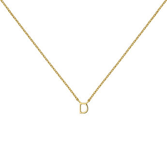 Gold Initial D necklace, J04382-02-D, hi-res