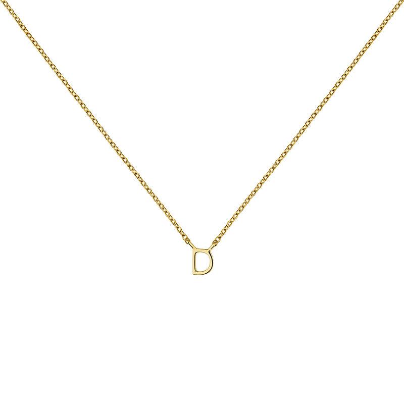 Collar inicial D oro, J04382-02-D, hi-res