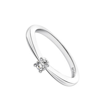 Bague solitaire or blanc 0,12 carat, J03398-01-12-GVS, hi-res