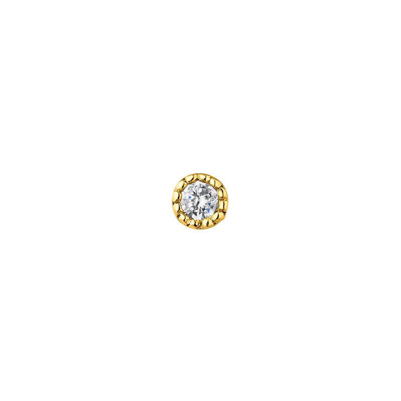 Mini diamond piercing earring 0.014 ct white gold, J04289-02-H-S, hi-res