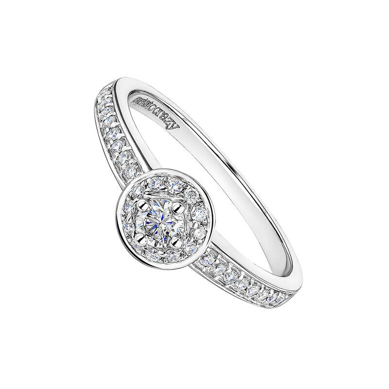 Gold border ring diamonds 0.28 ct, J00180-01-10-GVS, hi-res