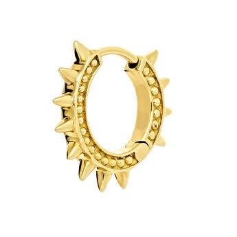 Pendiente piercing aro pinchos oro, J03846-02-H, hi-res