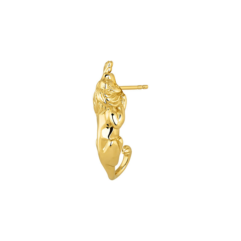 Pendiente de cartílago león oro, J04239-02-H, hi-res