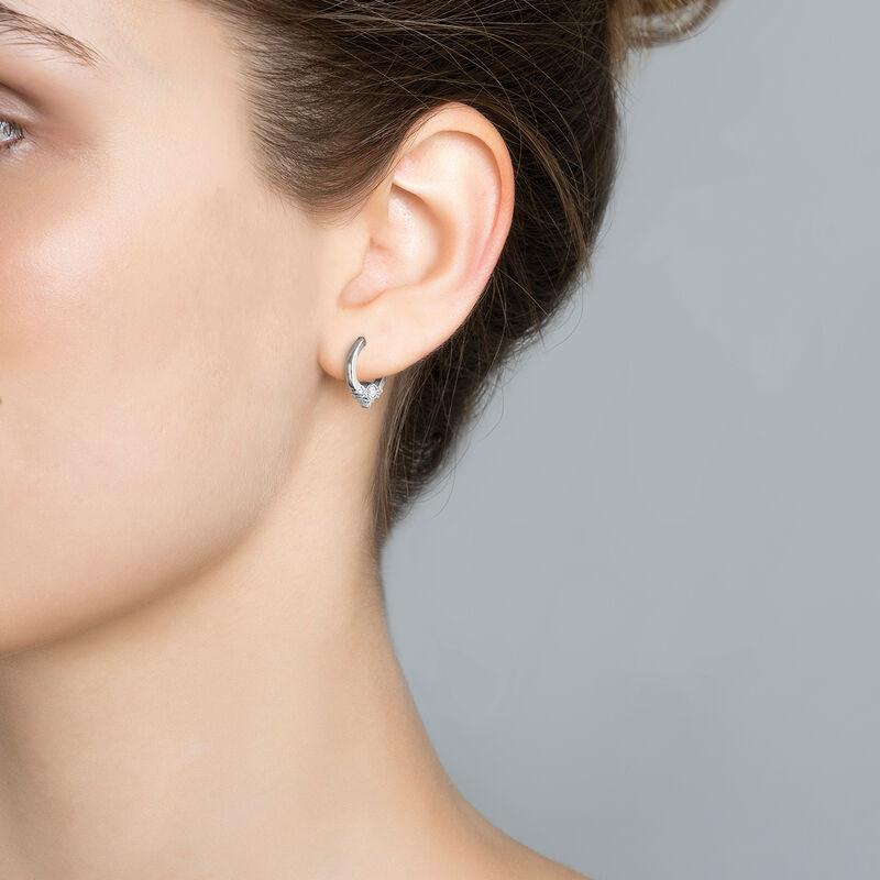 Boucle d'oreille piercing créole 6 diamants or blanc 0,102 ct, J03387-01-H, hi-res