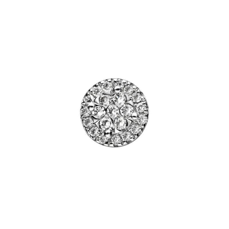 Pendiente orla en oro diamantes 0,075 ct, J00792-01-15-H, hi-res
