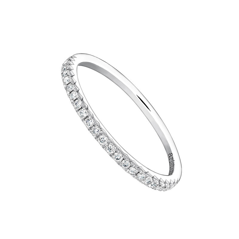 Anillo orla diamantes 0,15 ct oro blanco, J03938-01-15, hi-res