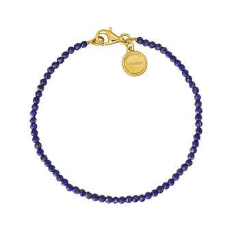 Pulsera lapislázuli plata recubierta oro, J04898-02-LP, hi-res