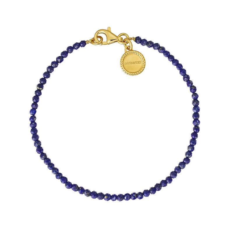 Bracelet or plaqué argent lapislazuli, J04898-02-LP, hi-res