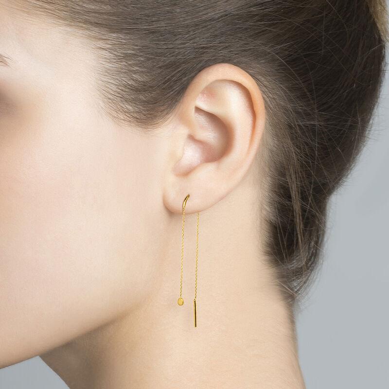 Boucles d'oreilles longues cadenas en or jaune de 9 ct, J04530-02-H, hi-res
