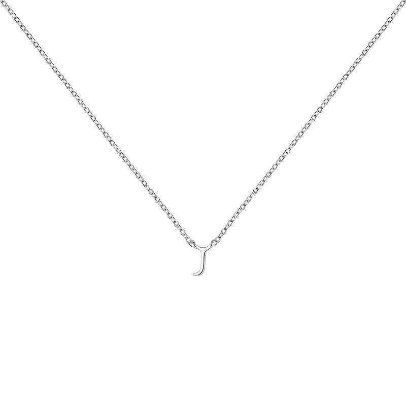 Collier iniciale J or blanc, J04382-01-J, hi-res