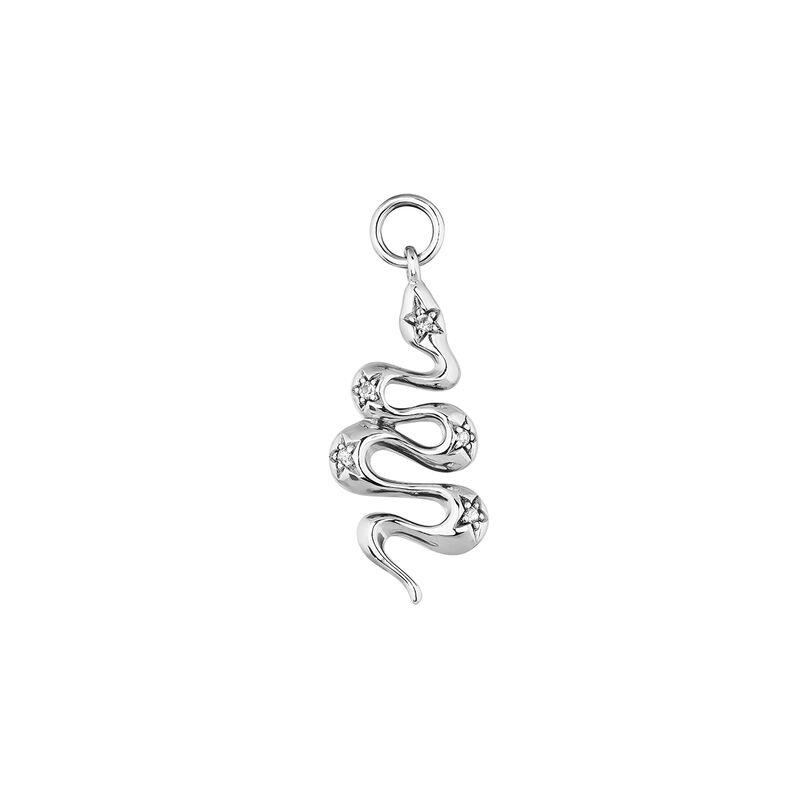 Silver snake pendant, J04011-01-BSN-WT, hi-res