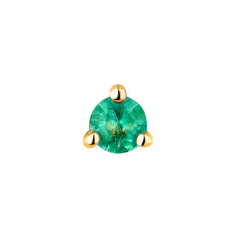 Medium gold emerald earring, J04346-02-EM-H, hi-res