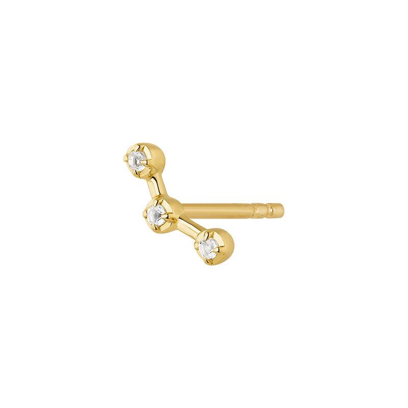Grimpeur d'oreille topaze blanche argent plaqué or, J04656-02-WT-H, hi-res
