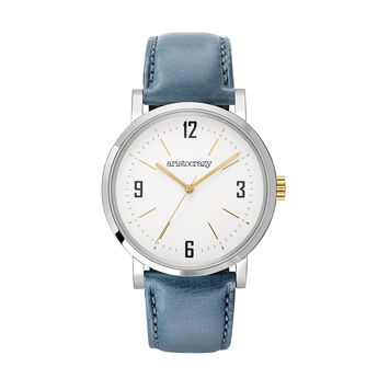 Blue Strap Brooklyn Watch, W45A-STSTWP-LEBU, hi-res