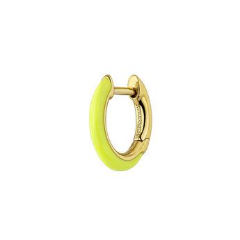 Pendiente esmalte amarillo plata recubierta oro, J04129-02-YELLENA-H, hi-res