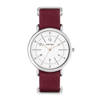 Montre Camps Bay bracelet cuir rouge, W49A-STSTWM-LERD, hi-res