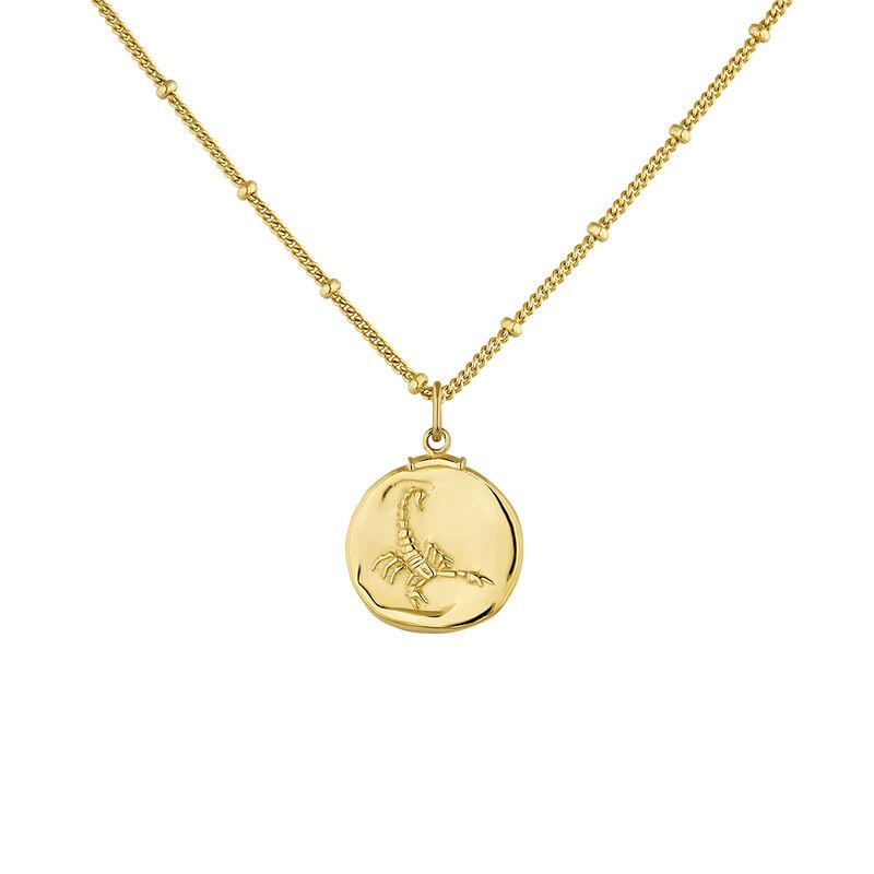 Pendentif scorpion argent plaqué or, J04780-02-ESC, hi-res
