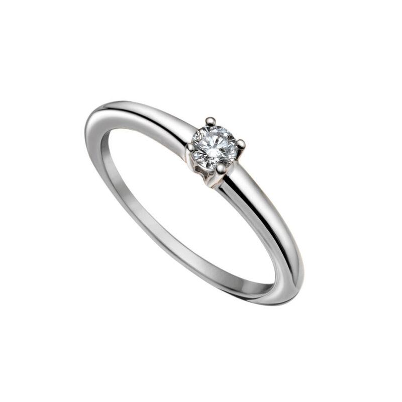 Simple white gold diamond solitaire ring 0.20 ct, J00919-01-20-GVS, hi-res