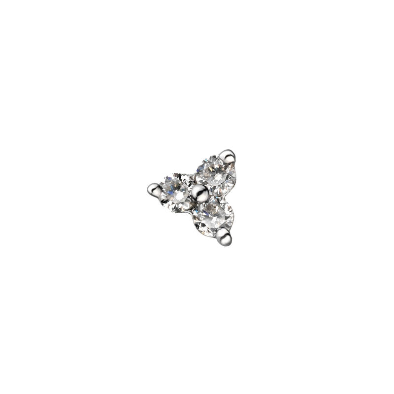 White gold shamrock earring 0.06 ct. diamonds, J00790-01-NEW-H, hi-res