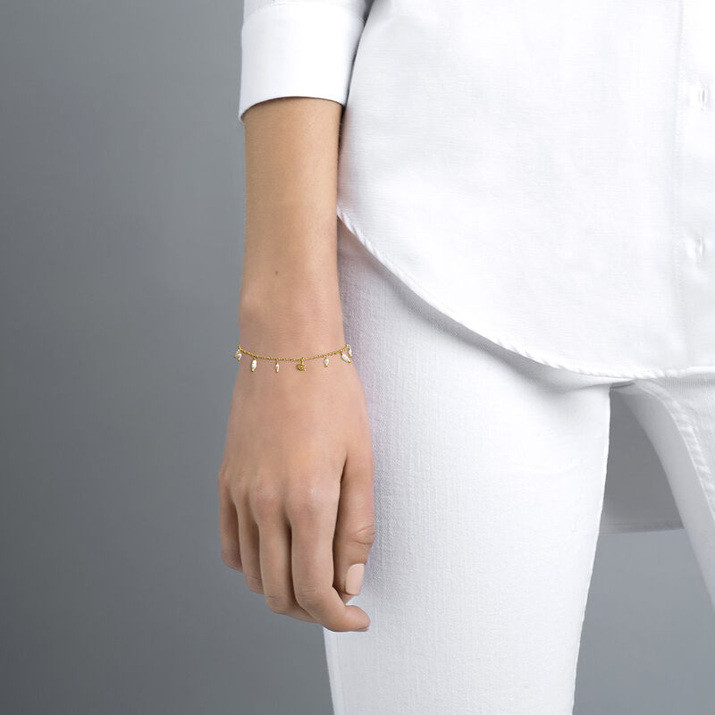 Pulsera perlas barrocas plata recubierta oro, J04471-02-WP, hi-res