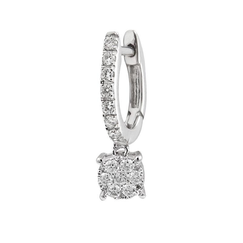 Pendiente aro piedra oro diamantes 0,18 ct, J00686-01-32-H, hi-res