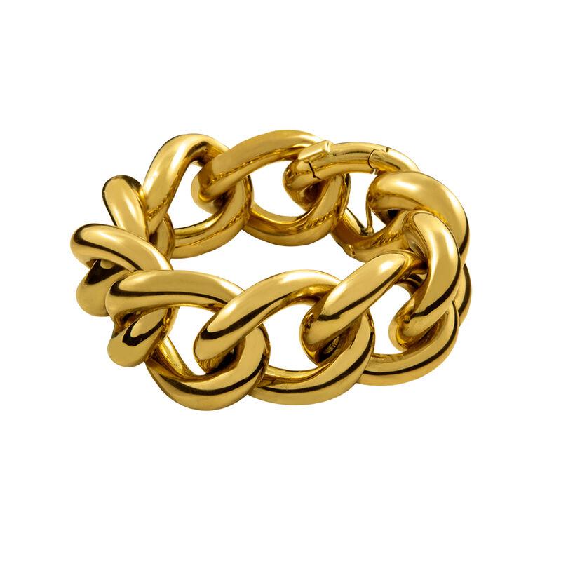 Bracelet maxi maillon moyen argent plaqué or, J00899-02, hi-res
