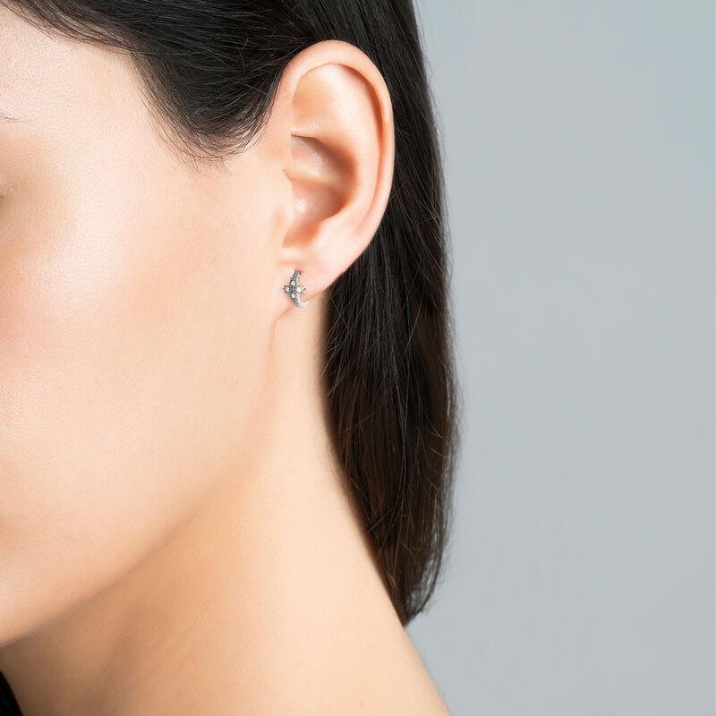 Pendiente piercing aro diamantes oro blanco 0,033 ct, J03386-01-H, hi-res