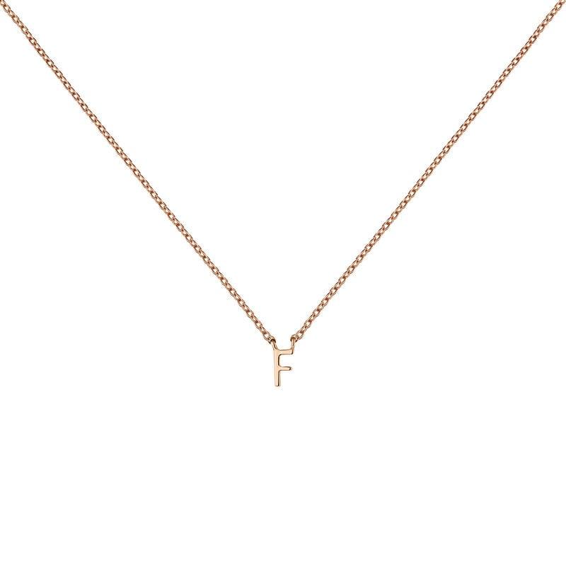 Collar inicial F oro rosa, J04382-03-F, hi-res