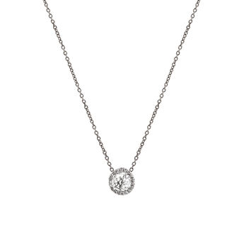 Border necklace with mini colourless topaz, J01342-01-WT, hi-res