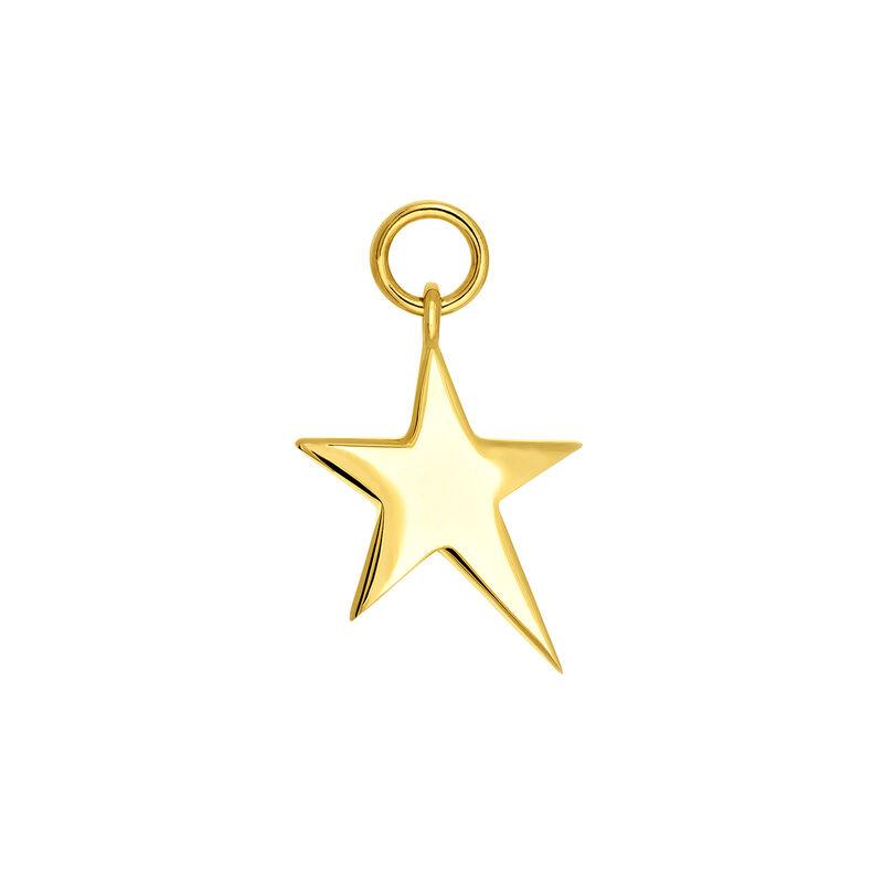 Colgante estrella asimétrica plata recubierta oro, J03777-02, hi-res