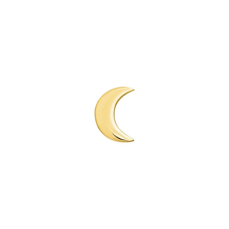 Gold moon earring piercing, J04524-02-H, hi-res