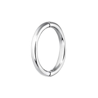 Large white gold hoop earring piercing, J03844-01-H, hi-res