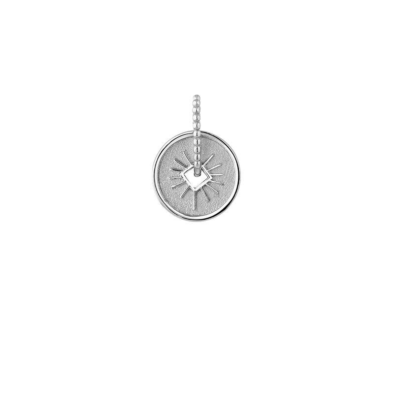 Colgante medalla rayos plata, J04285-01, hi-res