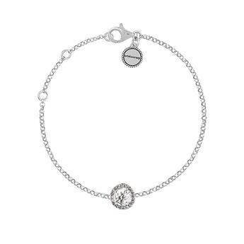 Silver Diamond and Topaz Bracelet, J01324-01-WT, hi-res