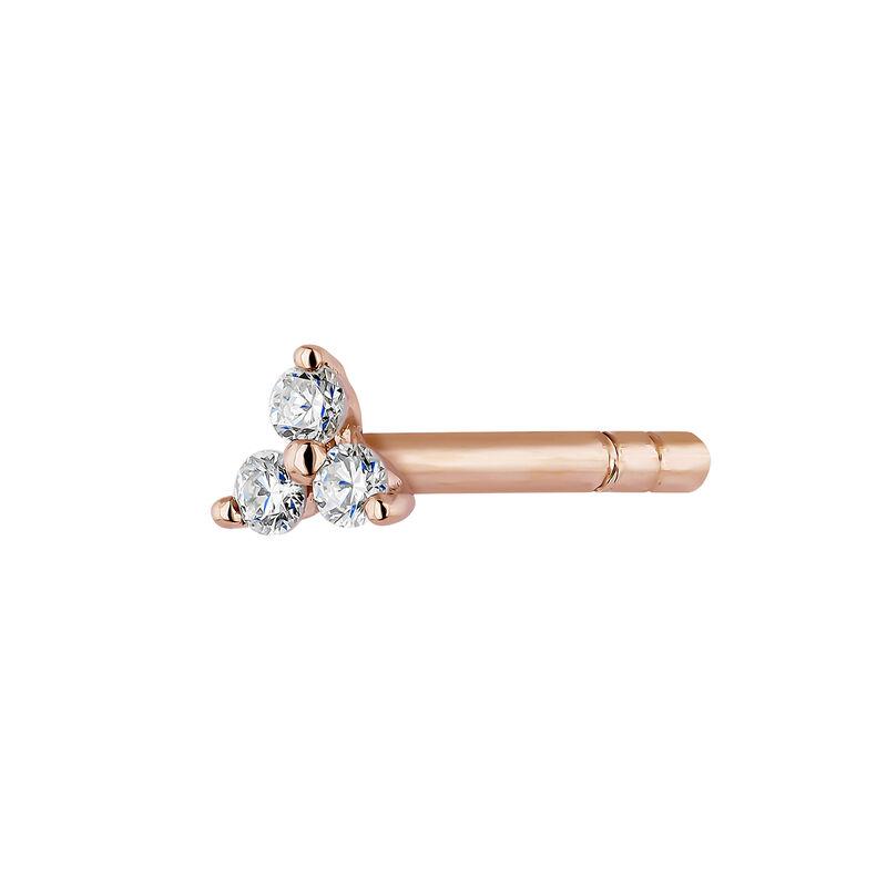 Pendiente trébol diamantes oro rosa, J04428-03-H, hi-res