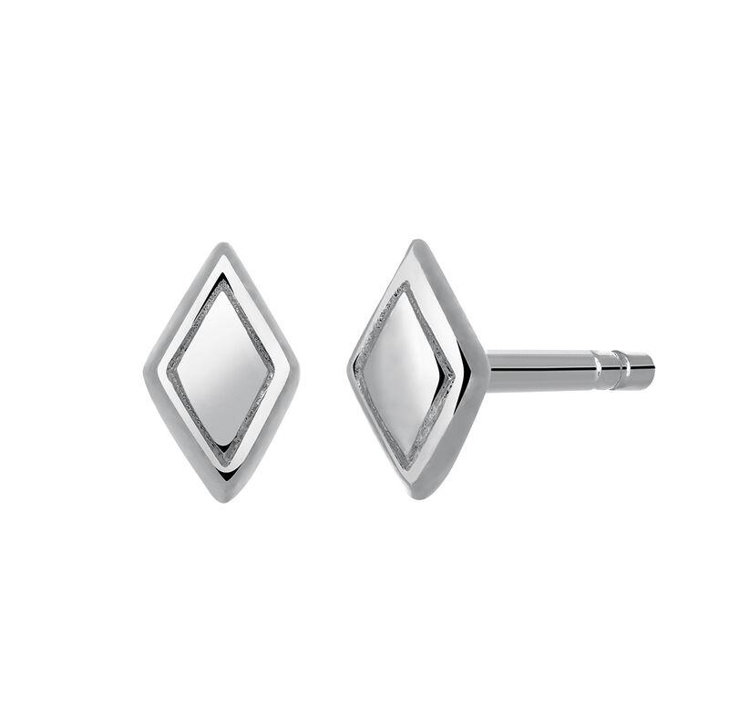 Pendientes stud rombos plata, J03469-01, hi-res