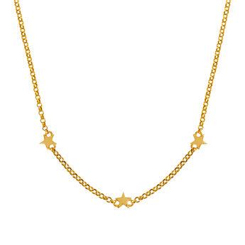 Gold mini stars necklace, J01900-02, hi-res