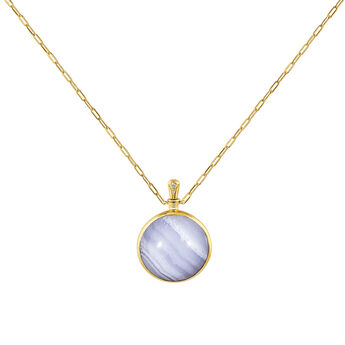 Large blue agate necklace , J04128-02-BLAG-WT, hi-res